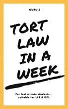 Learn Tort Law In A Week: LLB GDL