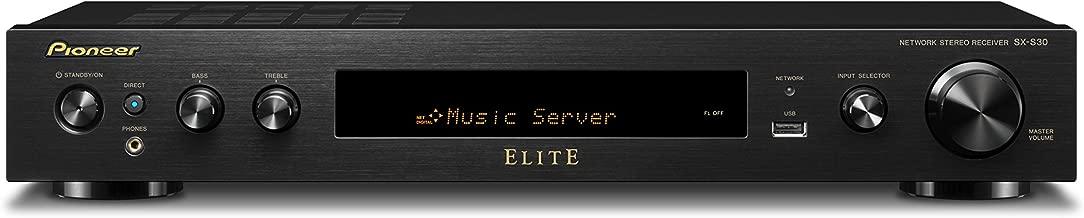 Pioneer Elite Slim Receiver Audio & Video Component Receiver, Black (SX-S30)
