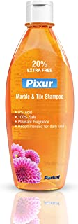 Pixur Marble & Tile Shampoo Orange: 600 ML/Floor Cleaner/Liquid / 0% Hcl Acid/Safe on all type floor/Eco Friendly