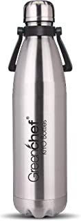 Greenchef Kiyo Thermosteel Duo Deluxe-1000ml Hot & Cold for 12 Hours Water Bottle, 1000ml, Silver