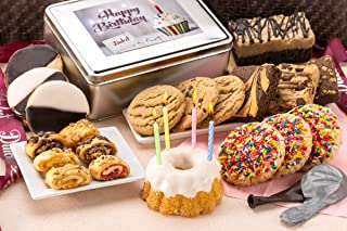 Dulcet Gift Baskets Birthday Party Box, Fresh Cake For Delivery, Perfect Gift For Men-Women-Friends, Nieces-and Nephews Happy Care Package.