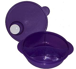 Tupperware CrystalWave Microwave Lunch N Dish Divided Bowl Purple