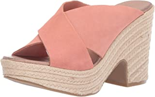 Chinese Laundry Women's QUAY Espadrille Wedge Sandal clay suede 6.5 M US