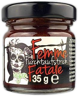 Schlump-ChiliFEMME FATALE FURCHTAUFSTRICHunser schärfster süßer veganer Chili FruchtaufstrichPaste mit Kirschen, dunkler Schokolade und Chili 1 x 35g