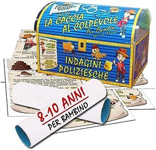 Caccia al tesoro sotto forma di indagine poliziesca - per bambino 8-10 anni - per feste di compleanno - giochi per bambini