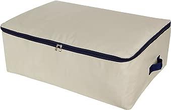 Lifewit Cotton Canvas Storage Bags Foldable Underbed Storage Bag for Comforters, Blanket, Bedding, Duvet, 100L