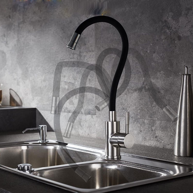 T-TSLT 304 edelstahl magische zauberhahn, küche universal küche waschbecken wasserhahn hei und kalt