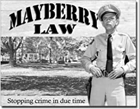 ShopForAllYou Vintage Decor Signs Mayberry Law Metal Tin Sign Barney Fife Andy Griffith Show Home Wall Decor New