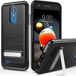 LG Rebel 4 LTE Phone case, Aristo 3/ Phoenix 4/ Aristo 2/ Aristo 2 Plus/Tribute Dynasty/Fortune 2/ K8 2018/ Zone 4 Case, Androgate Shock-Absorption Protective Cover Bumper Case with Kickstand, Black