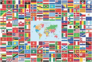 GOLF World Flag Banner International Flags Banner Country Flags Banner of The World with Iron Grommets for Backdrop Decoration