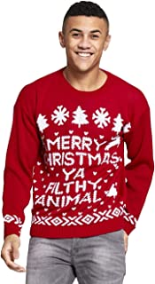 Momo&Ayat Fashions Mens Merry Christmas Ya You Filth Animal Filthy Jumper Size Small-XL