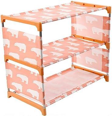 MEZON Non-Woven Shoe Rack Large Size Living Room Fabric Dustproof Cabinet Organizer Holder Foldable Stand Shoe Storage Rack S