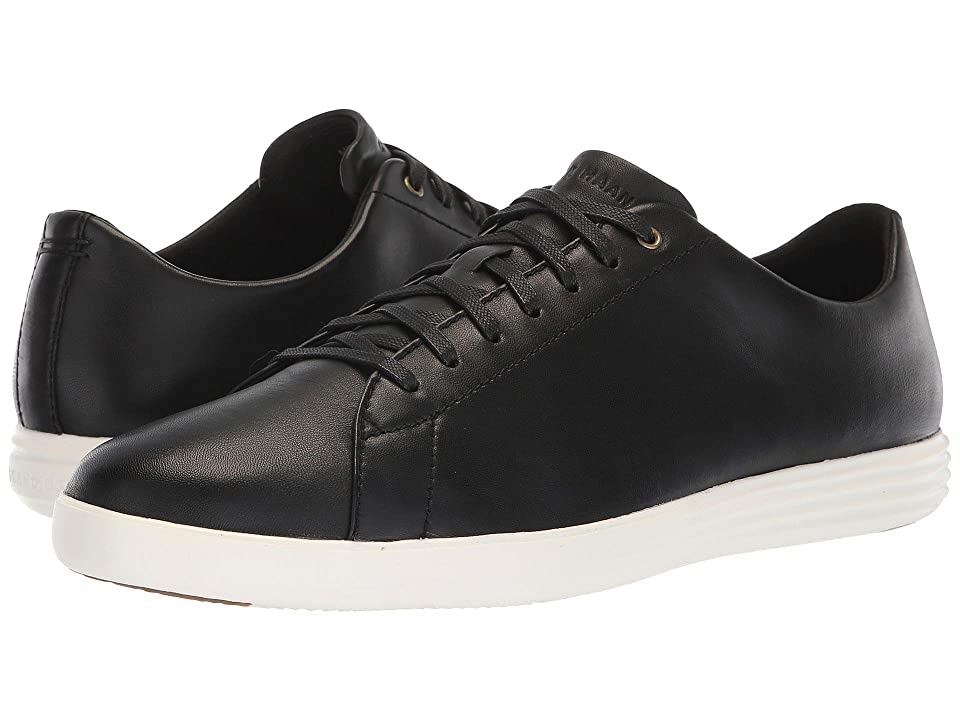 Cole Haan Grand Crosscourt Sneaker (Black Leather/Optic White) Men