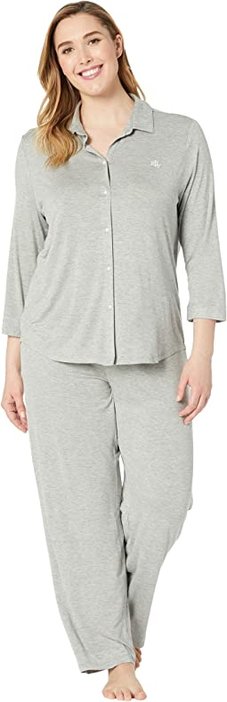 Plus Size His Shirt Long Pajama Set