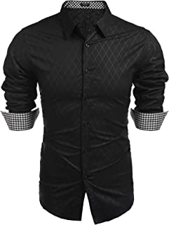 COOFANDY Men's Business Dress Shirt Long Sleeve Slim Fit Casual Button Down Shirt