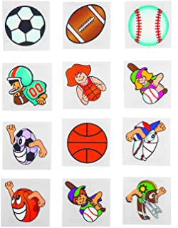 Fun Express Sports Tattoos (72 pieces) Party Favors, Youth Sports & Activities