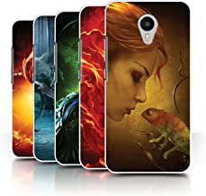 Official Elena Dudina Phone Case / Cover for Meizu M1 Metal (Blue Charm) / Pack 5pcs Design / Dragon Reptile Collection