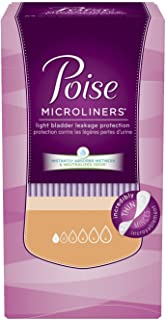 Poise Microliners, Long Length - Lightest Absorbency, 50 Count (Pack of 2)
