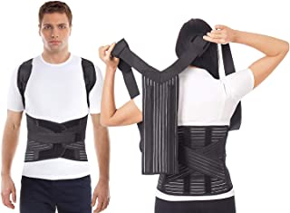 Corrector postural transpirable LUX AJUSTABLE Large Negro