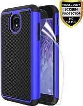 Innge Samsung Galaxy J3 2018 Case,J3 Achieve Case,J3 Star Case,Amp/Express Prime 3,Sol 3,J3V J3 V 3rd,J3 Orbit Case w/Screen Protector,[Shockproof] Dual Layer Armor Defender Protective Case Cover,Blue