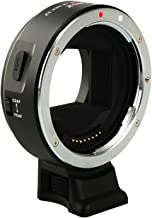 VILTROX EF-NEX IV High Speed Auto Focus Lens Mount Adapter Ring for Canon EF/EF-S Lens to Camera Sony A9 A7 A7R A6300 A6500 NEX Series Full-Frame with USB Upgrade Port, CDAF and PDAF Switch Mode.