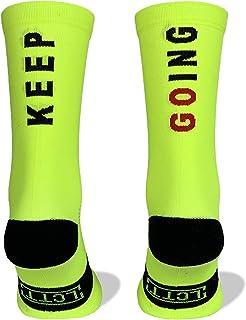 La Cosa Tiene Tela, Calcetines Deportivos Técnicos Compresivos, diseñados para el Alto Rendimiento en la Práctica Deportiva de Running, Ciclismo, CrossFit, Gimnasio.Coolmax,Termorregulador y antibacteriano.
