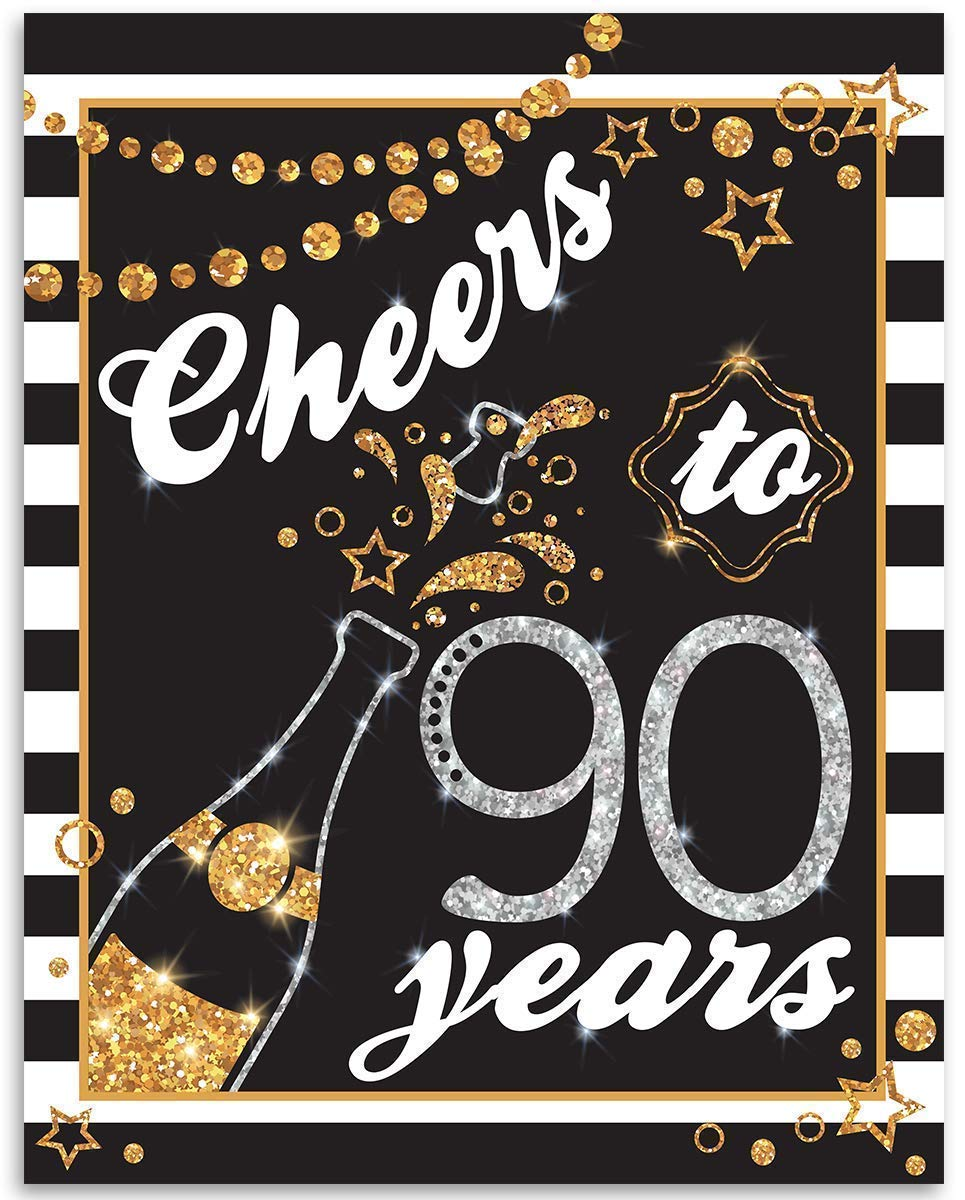 Cheers Spring new work To 90 Years Champagne Popular popular - Art Perfec Unframed Print 11x14