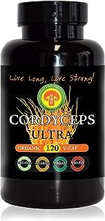 Organic CORDYCEPS Militaris Extract 120 Capsules, 2 Month Supply, Premium High Potency 100% USDA Certified Organic Fruitin...