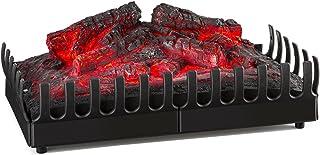 Klarstein Kamini - Chimenea eléctrica, Calefactor de Pared, Efecto de Llamas LED, 45 W G9, Iluminación halógena 40 W, No Deja hollín ni Ceniza, Facil Limpieza, Negra