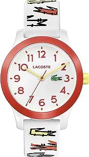 ساعة لاكوست للاطفال من الجنسين بمينا ابيض مع حزام من السيليكون الابيض - 2030018
