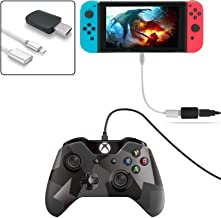 FastSnail Controller Converter for Nintendo Switch, Makes PS3/PS4 Dualshock/Xbox ONE Controllers Compatible with Your Switch, Support Vibration, with Type-C OTG Cable Silver