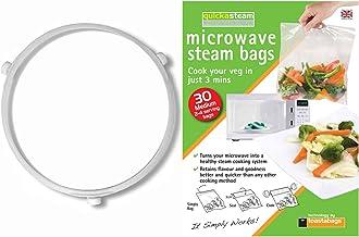 Spares2go 3Ruedas Plato De Vidrio Rodillo Ring Soporte con vapor Bolsas para Daewoo microondas