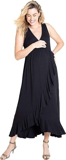 Maternity Cross Front Maxi Dress
