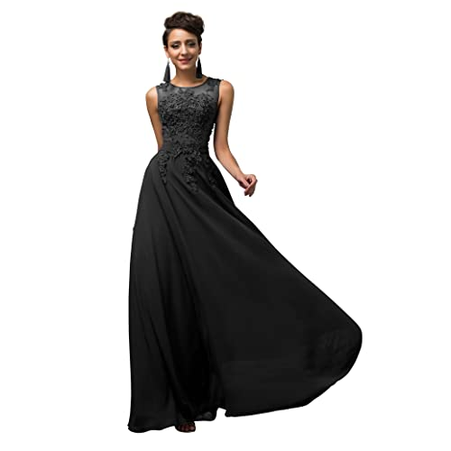 90308c0cdc Maxi Chiffon Wedding Bridesmaid Dress A-Line Long Evening Ball Gowns Dress  UK Size 6