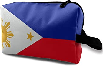 Denim09 Cosmetic Bags Philippines Flag Cute Multifunction Sewing Kit Medicine Makeup Storage Bag for Travel Camping Gym