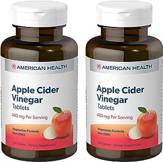 American Health Apple Cider Vinegar Tablets (2 Pack) - Balanced Diet and Exercise Program Support, No Tart Vinegar Taste -...