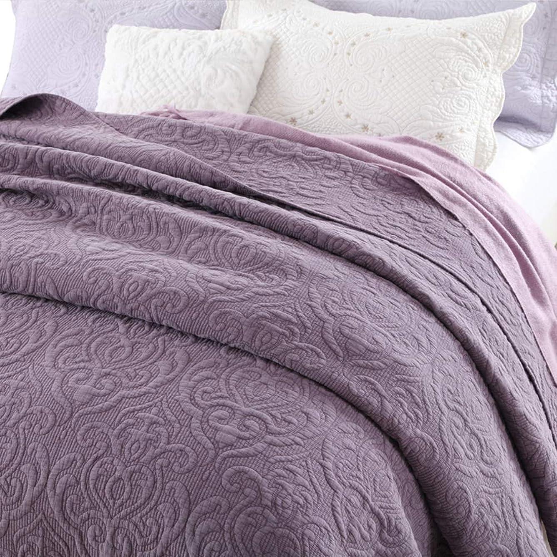 意図警察フォアマンアメリカ 単色 ベッド, 砂 洗っ キルティング 掛け布団 夏の涼しい エアコン ベッド カバー 綿 ベッド マットレス-a 230x250cm
