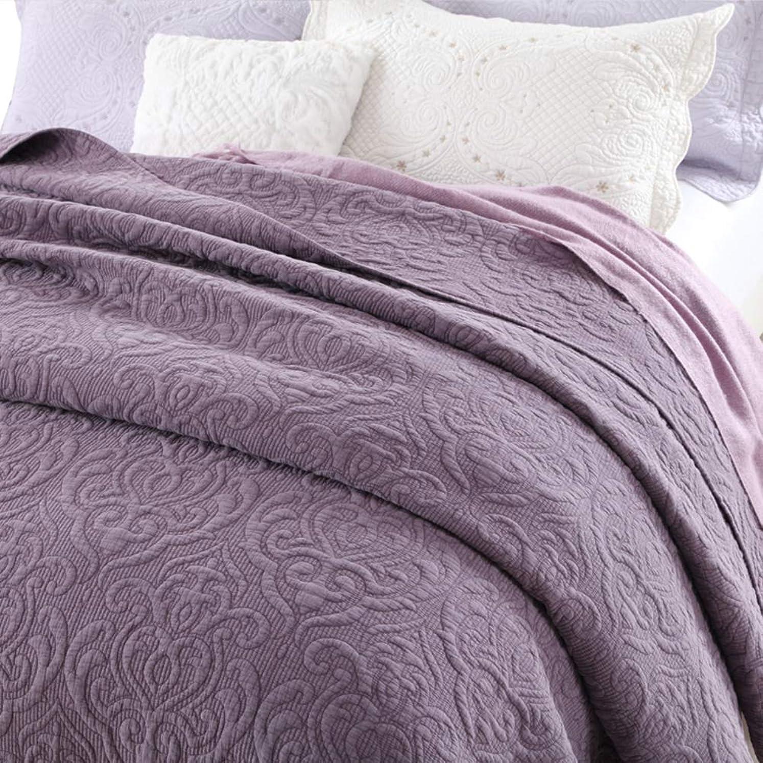 近傍補体阻害するアメリカ 単色 ベッド, 砂 洗っ キルティング 掛け布団 夏の涼しい エアコン ベッド カバー 綿 ベッド マットレス-a 230x250cm