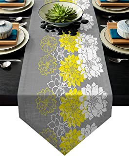 Best yellow and grey table runner Reviews