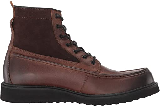 Brown Multi Leather/Waxed Suede