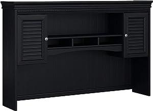 Hutch for L Shaped Desk Black Cabin Lodge MDF Antique