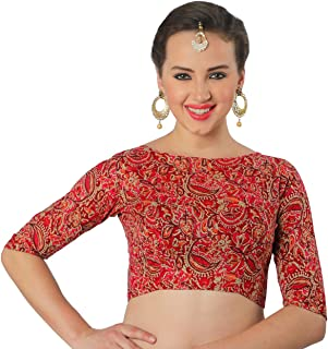 d69ee770935fa6 Amazon.in: Reds - Blouses / Ethnic Wear: Clothing & Accessories