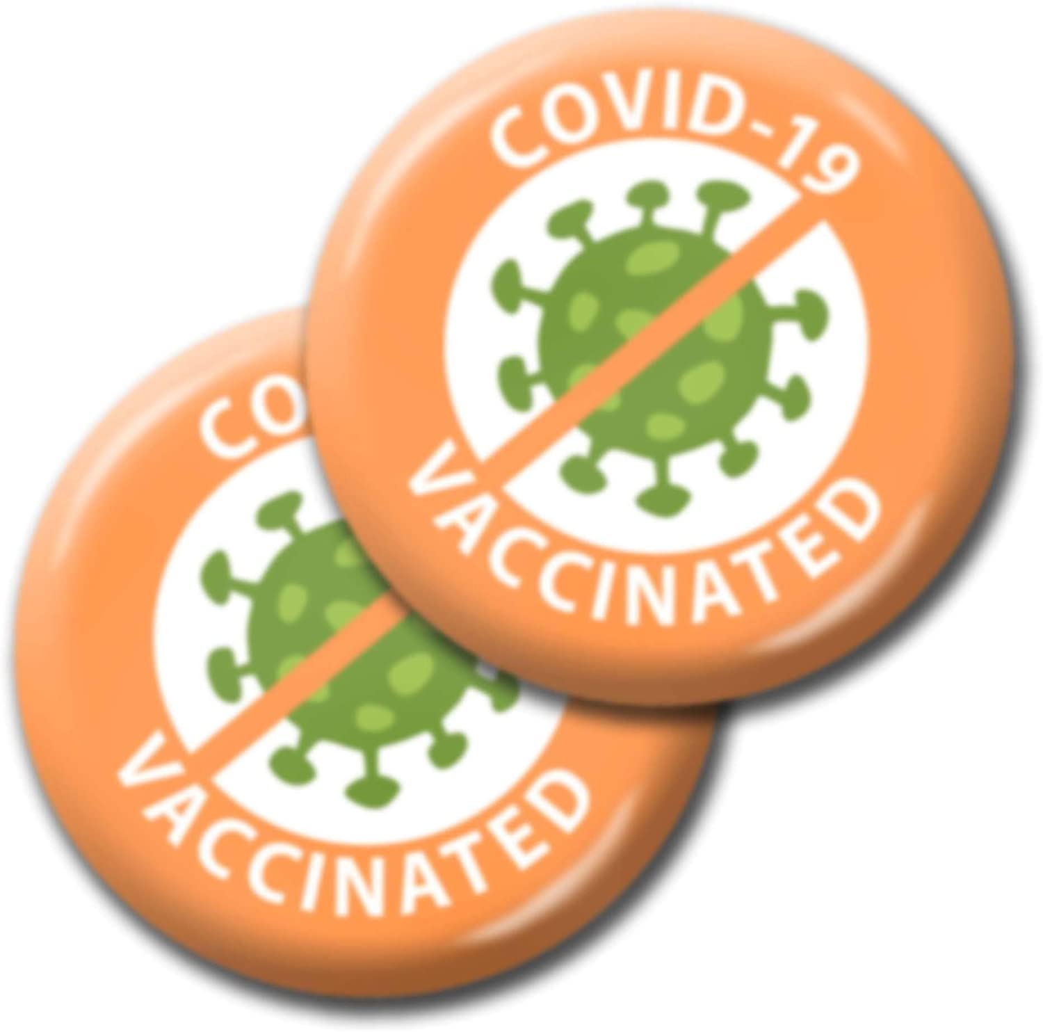Covid Vaccinated Awareness San Antonio Mall Pin It is very popular - I My Button Vaccine 2-Pac Got