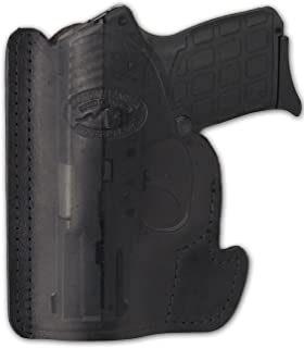 Barsony New Black Leather Pocket Holster for Small .380 Ultra-Compact 9mm 40 45 Pistols