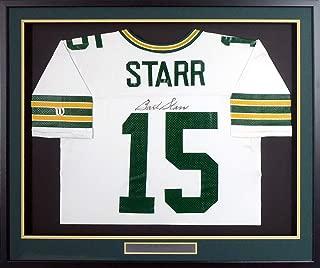 Green Bay Packers Bart Starr Autographed Framed Authentic Wilson Proline Jersey JSA #Z72933