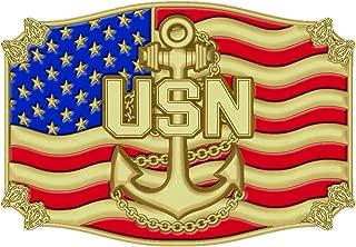 U.S. Navy Belt Buckle Enamel Blue & Red