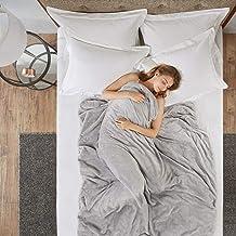SCM Couvertures pondérées - Couverture lestée Chaude - Vrai Sommeil Profond - Idéal pour s'endormir et Calmer l'anxiété et...