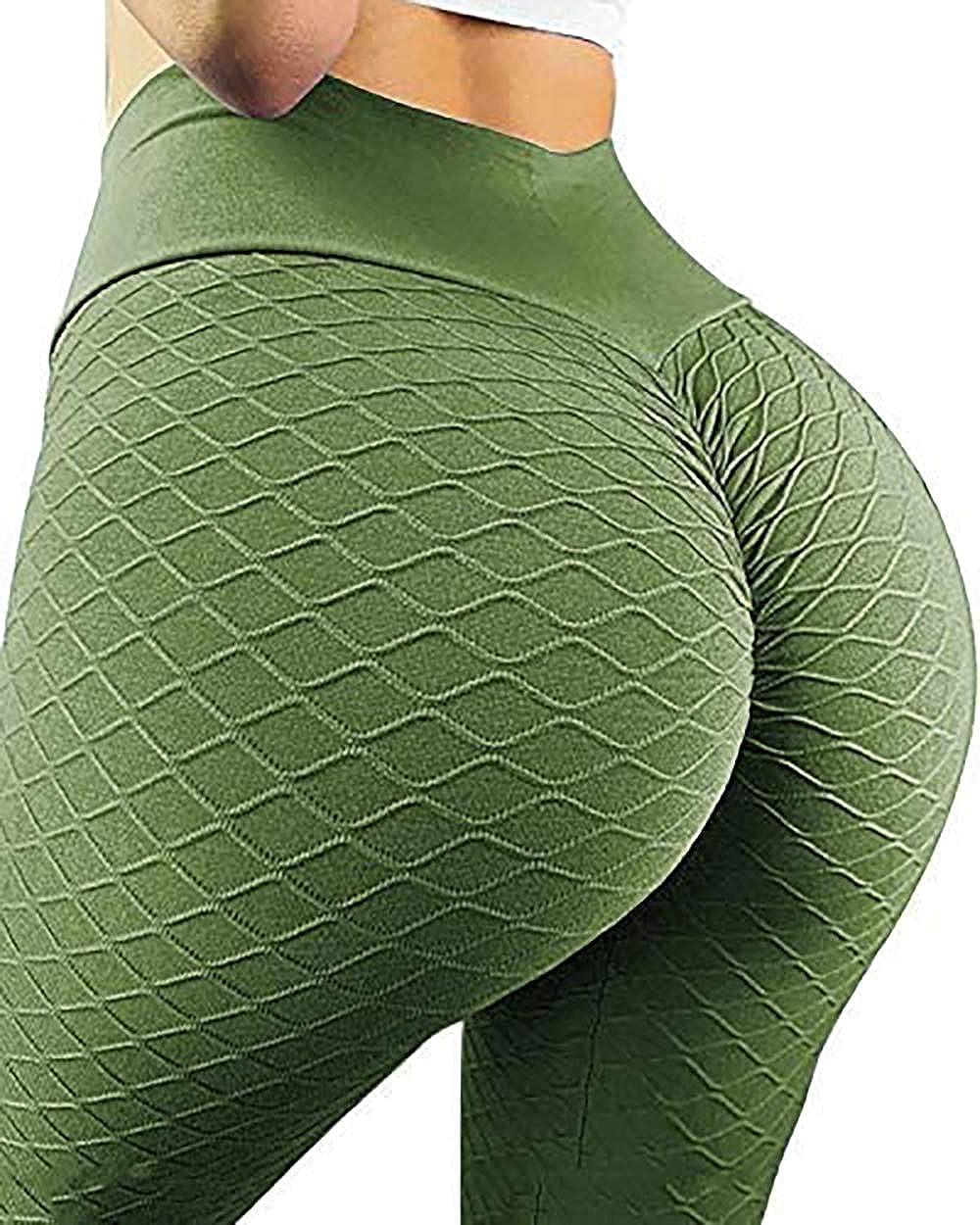 Womens Yoga Pants High Waist Yoga Leggings Workout Running Pants Butt Lift Tights Tummy Control Leggings