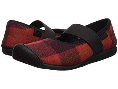 Keen Sienna Mary Jane Plaid (Red/Black) Women