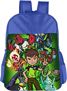 CNJELLAW B-Ben-10 School Bag Stylish Lightweight Student Backpacks Kids Bookbag Daypack